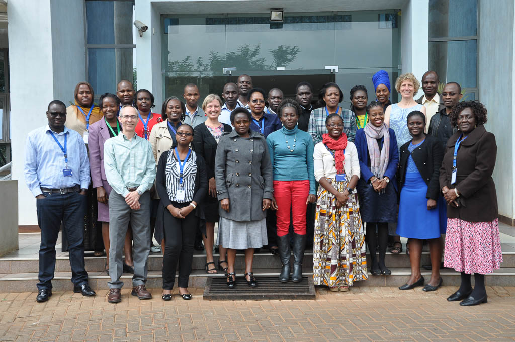 IPUMS-DHS Workshop Participants and IPUMS-DHS Staff Pose in Front of the APHRC (Photo by APHRC)