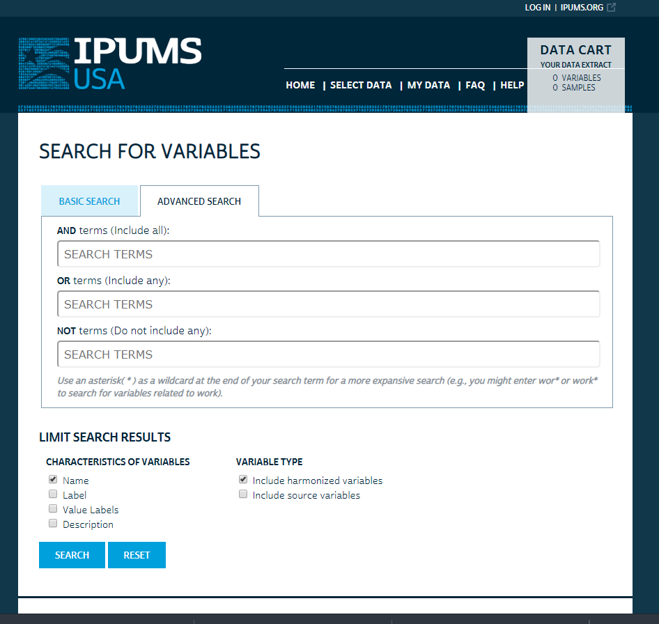 IPUMS Search has a New Look! – Use It for Good