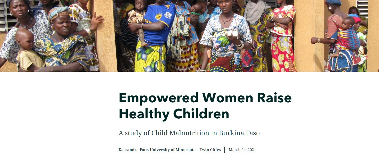 Empowered Women Raise Healthy Children