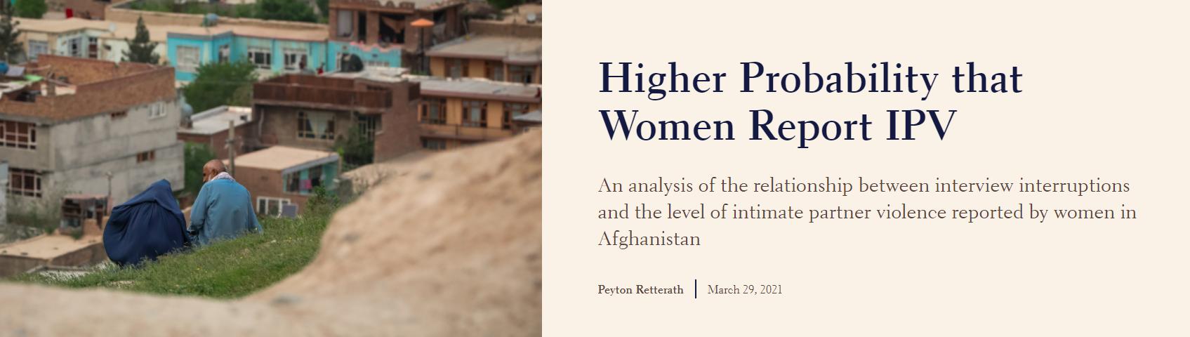 Higher Probability that Women Report IPV