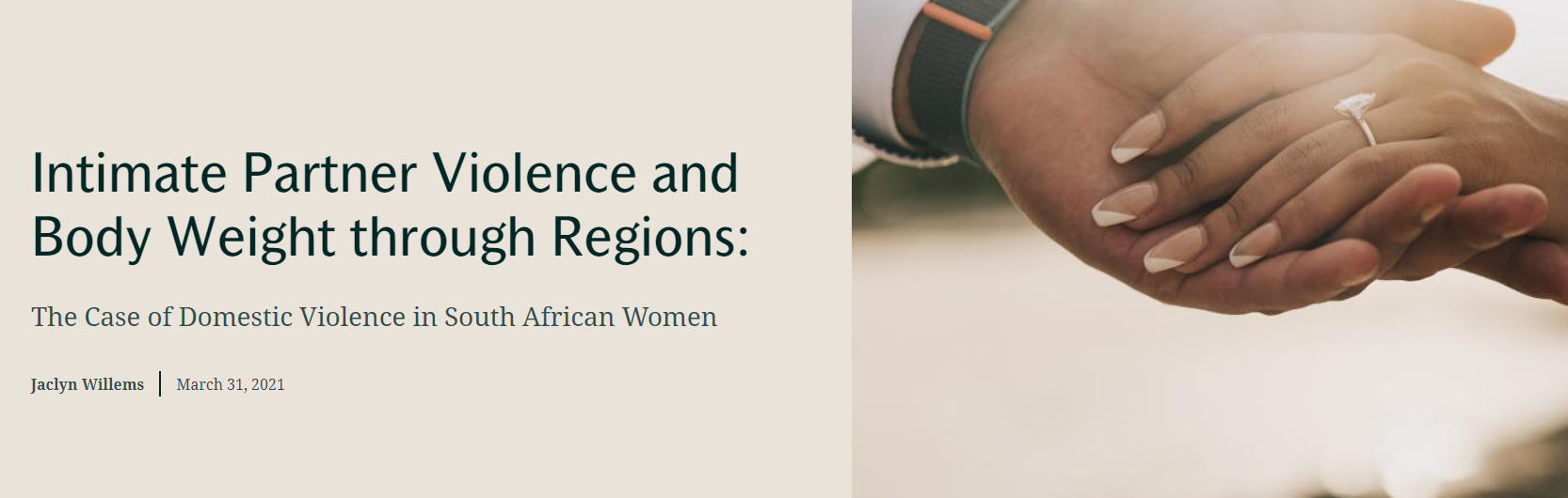 Intimate Partner Violence and Body Weight through Regions